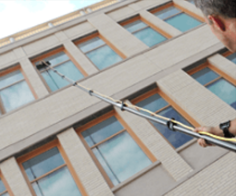 exterior window cleaning a Washington D.C. government building